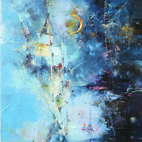 И снова лестница - художник М.Кретова-Бабич