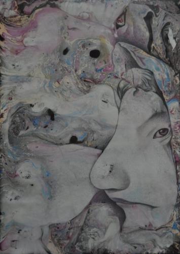 Бабка-лопотунья - художник Сергей Ухин