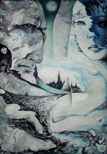 Моя маленькая женщина-зомби - художник Сергей Ухин