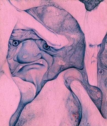 Человек в футляре - художник Сергей Ухин